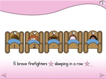 5 Brave Firefighters - Animated Step-by-Step Poem - Regular