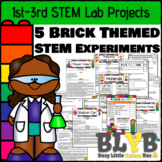 5 Building Brick Themed STEM Activities - FREEBIE IN PRODUCT PREVIEW FILE!