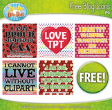 FREE Bright & Funny Blog Icon Clipart — Includes 5 Graphics!