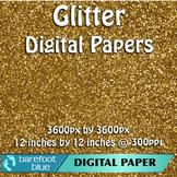 5 Brown Glitter Background Texture Digital Paper