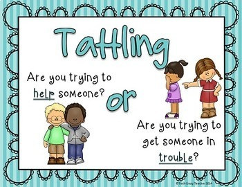 Reduce and Stop Tattling: 5 B's