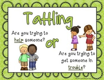 Reduce and Stop Tattling Resource: 5 B's  (Green)