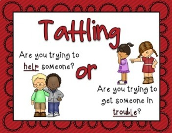 Reduce and Stop Tattling Resource: 5 B's (Red)