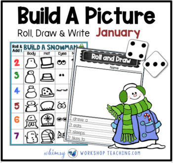 5 Build A Snowman Math and Literacy Game (from Roll Draw Write Full Year Bundle)