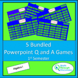 Algebra 1 - Bundled Powerpoint Q and A Games - 1st Semester