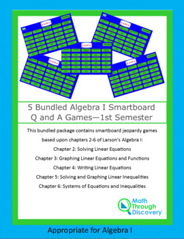 5 Bundled Geometry Q and A Games - 1st Semester