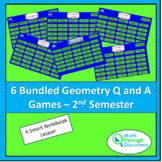 6 Bundled Geometry Q and A Games - 2nd Semester