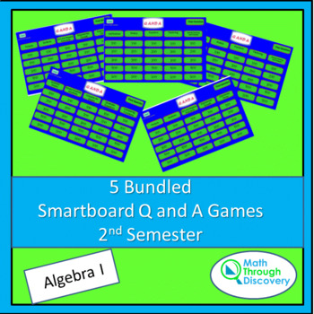 5 Bundled Smartboard Q and A Games - 2nd Semester