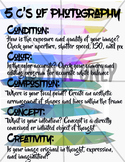 5 C's of Photography- Poster