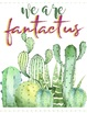 5 CUTE Watercolor Cactus and Succulents Motivational Classroom Posters Decor