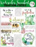 5 CUTE Watercolor Cactus and Succulents Motivational Class