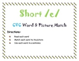 5 CVC Short Vowel Printable File Folder Hands on Literacy Activitity Games color