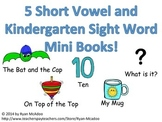 5 CVC and Kindergarten Sight Word Mini Books!