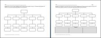 5 Category Classification Chart Graphic Organizer