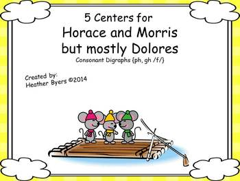 5 Centers for Horace & Morris but mostly Dolores Gr 2 digraphs {ph, gh /f/}