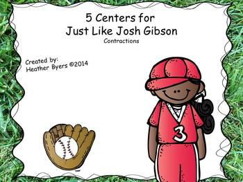 5 Centers for Just Like Josh Gibson Gr 2 {contractions}