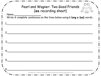 5 Centers for Pearl and Wagner: Two Good Friends Gr 2 Unit 3 Week 1 {long e}