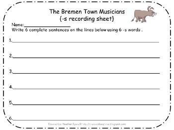 5 Centers for The Bremen Town Musicians Gr 2 Unit 2 Week 4 {plurals}