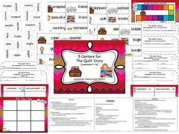 5 Centers for The Quilt Story Gr 2 Unit 4 Week 1 {consonant + le}