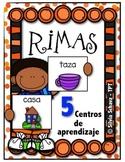 5 Centros de aprendizaje de rimas - en español