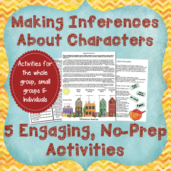 5 Character Inference Activities-Help Your Students Infer