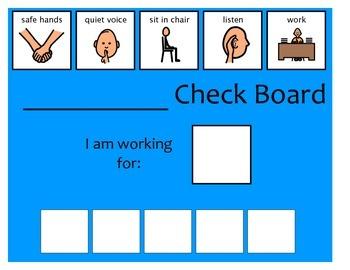 5 Check Token Board - Blue