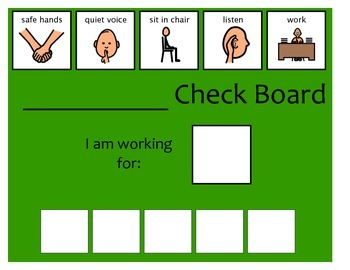 5 Check Token Board - Green