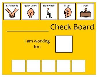 5 Check Token Board - Yellow