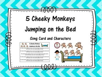 5 Cheeky Monkeys Jumping on a Bed- Song