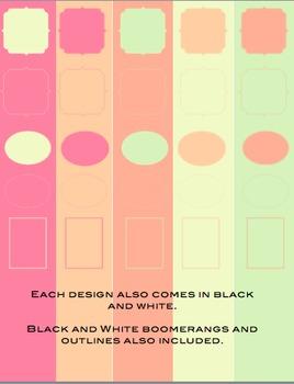 5 Chevron Backgrounds & 40+ Clipart: Spring Has Sprung Color Palette. Commercial