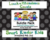5 Choice Lunch Count and Attendance Bundle for Entire Year on Smartboard