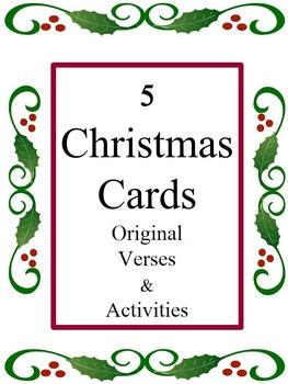5 Christmas Cards - Set 3