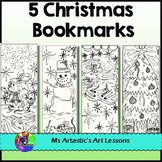 Christmas Bookmarks for Coloring