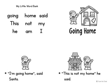 Christmas Emergent Readers - Books, Worksheets and Games