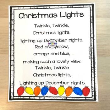 5 christmas poems for kids bundle
