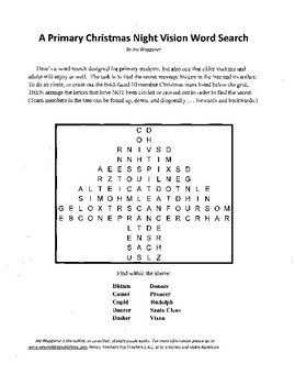 5 Christmas Puzzles for Primary, Middle School,High School,Religious and Secular