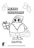 6 Christmas colouring pages