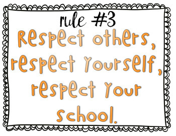 5 Classroom Rules Posters