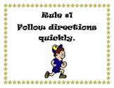 5 Classroom Rules