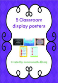 5 Classroom posters / displays - non subject / grade specific