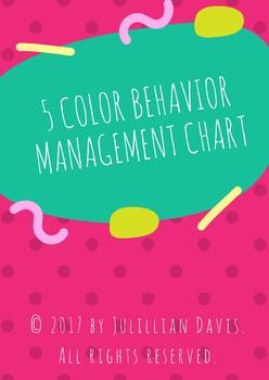 5 Color Behavior Management Chart