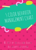 5 Color Behavior Management Chart