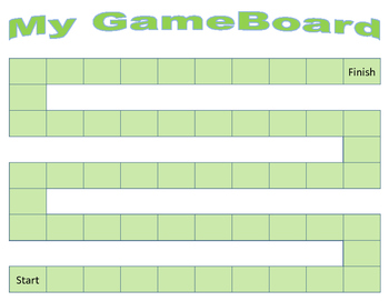 5 Colored Game Boards - Make Your Own Games