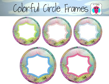 5 Colorful Filled In Circle Frames
