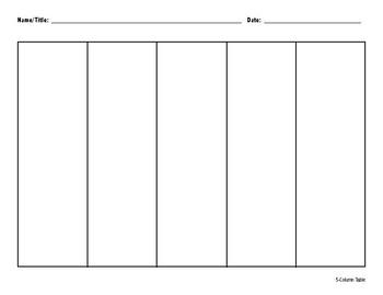 5-Column Organizer