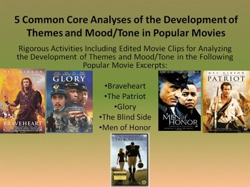 5 Common Core Activities for Analyzing Theme and Mood in M