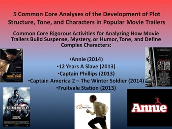 5 Common Core Activities for Plot Structure, Theme, and Tone in Movie Trailers
