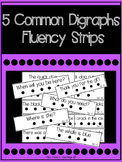 5 Common Digraphs Fluency Strips