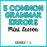 5 Common Grammar Errors to Avoid (Includes Twitter Scaveng