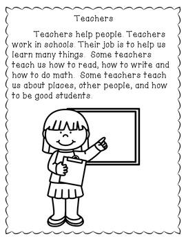 Community Helpers Activities -  Reading Comprehension Passages K-2